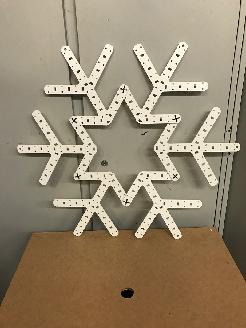 A completed Snowflake, which is 660mm in diameter when completed