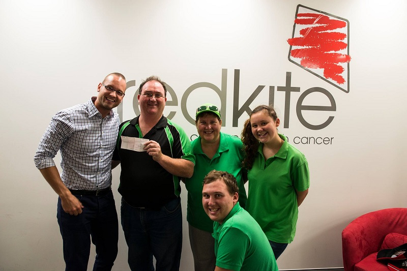 Delivering the 2013 fundraising to Redkite in early 2014