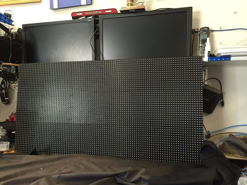 One of 2 screens for next year, currently waiting for the last parts to arrive next week to allow testing to continue