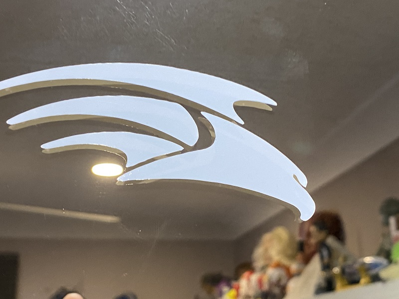 Falcon Logo. Due to Covid, these were given to others to give away with Falcon orders