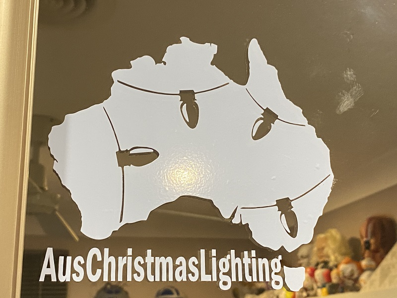 AusChristmasLighting logo, done more for fun. Not many were given away.